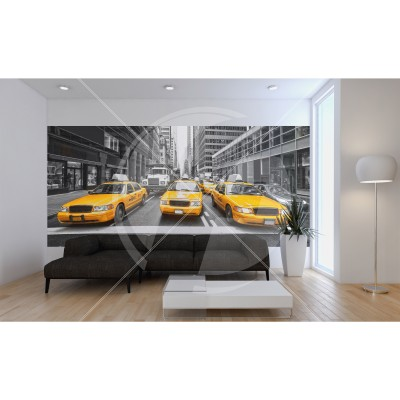 Fototapeta lateksowa 260x150 cm - New York Taxi